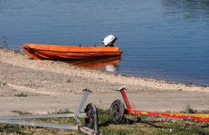 Just a dingy. Beaucaire. France by jennystokes