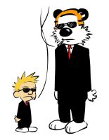 calvin n hobbes playin it cool by soursprite