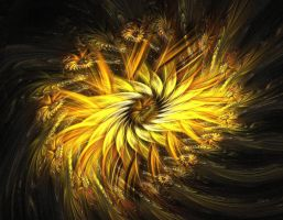 Stormy Sunflower by eReSaW