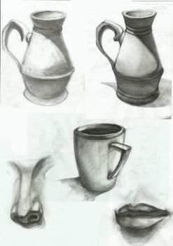 Charcoal Studies by Rocklaw