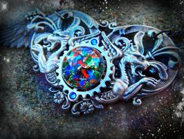 Celestial Cathedral Pendant 3 by ArtByStarlaMoore