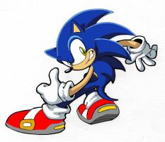 Sonic Drawing Colored by SonicX18