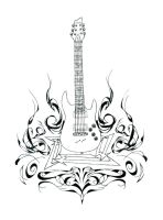 Guitar and Flames- Detail by AngryLandon
