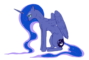 Sad Luna by Wiithout