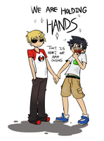 Holding Hands by Spurkeht