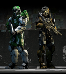 Fireteam Shatter- Spartans G304 and A344 by Scruffy-Stevie