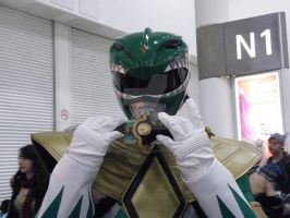 Green Ranger Close Up by AkraruPhotography