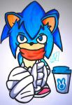 sonic the hipsterhog by elconejomosca