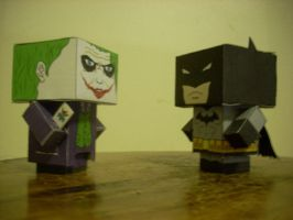 Batman versus the Joker cubees by Respeto6