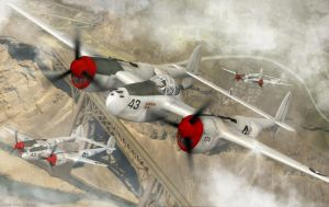 Lockheed P-38 Lightning by Vi2DoubleYu