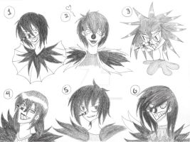 The Many Faces Laughing Jack (Not really) by OPheliaFauncewater