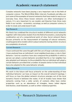 Research statement samples