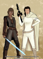Anakorra and Asamidala by Jennawynn