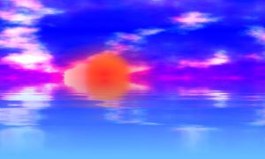 Abstract Sunset by Pluberus