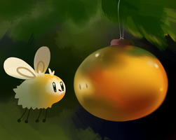 Christmas Cutiefly by HappyCrumble