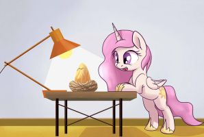 Filly Celestia Hatching Philomena by PostScripting