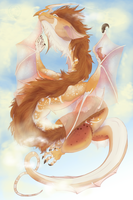 Whimsy Dragon Flight by whiteicepanther