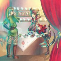 Commission: Link at the Bazaar by Zellie669-commishes