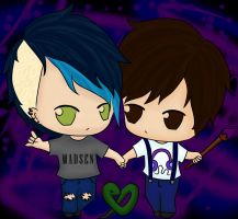 me and calix peace out colored!! by nightwing6497