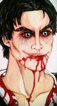 Damon Salvatore as vampire by TwinkelMalfidus