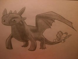 Toothless by GuardianOfNightmares