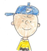 Charlie Brown wearing a NFL cap by dth1971