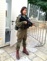 Beautiful IDF soldier protecting The Old City by csuhsux