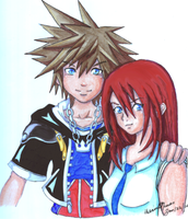 Sora and Kairi by XxBuBBL3zxX