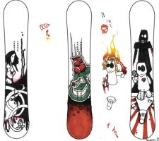 snowboard sketches by dreams-so-bleak