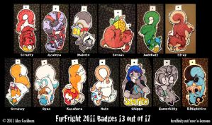 FurFright11TailHangingBadgesP1 by o-kemono