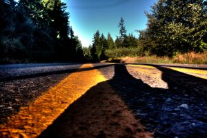 Road shadow HDR by Mackingster