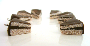 Chocolate Cake Charms by CookieCraft