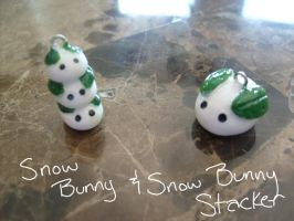 Snow Bunny Charms by Demi-Plum