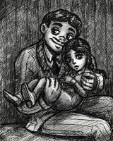 Gomez and Wednesday Addams by Demona-Silverwing