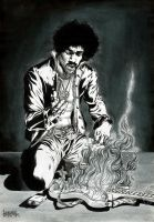 Jimi Hendrix by garnabiuth