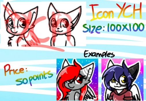 FURRY AND PONY ICON YCH (unlimited)  by MysticSwirl4