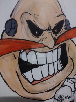 The head of Dr. Robotnik Satam by 3dark7