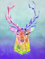 Crystal Stag by Silartworks