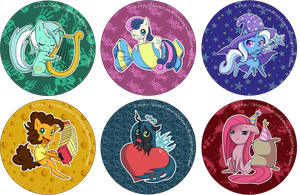 MLP Buttons - Various by TheUnununium