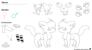 MS Paint Friendly Cat Reference Sheet by Little-Painter