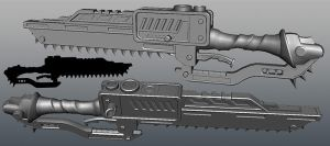 chainsword WIP 2 by plastictrash
