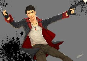 drawing : DmC's Dante by kugelcruor