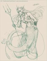 Merman solidier sketch by Asuka-Rosenrot