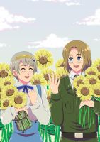 APH Request: Sunflower Stroll by khakipants12
