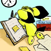 Pichu Back to School by Drabble-Monster