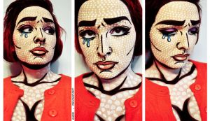 Lichtenstein-Inspired Makeup by Khdd
