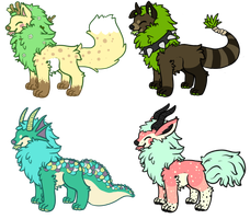 Domestic/Wild Pupyon Pups Auction (CLOSED) by HobbaGobwin
