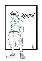 ROBIN Kid Converse by CLE2