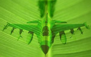 plane in greenworld by Solidox93