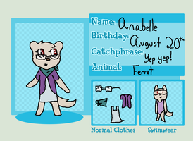 Anabelle the cute little ferret by iznj